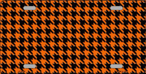 Orange Black Houndstooth Wholesale Metal Novelty License Plate LP-4564