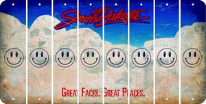 South Dakota SMILEY FACE Cut License Plate Strips (Set of 8) LPS-SD1-089