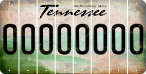 Tennessee O Cut License Plate Strips (Set of 8) LPS-TN1-015