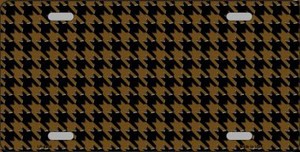 Brown Black Houndstooth Wholesale Metal Novelty License Plate LP-4568