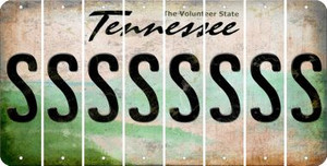 Tennessee S Cut License Plate Strips (Set of 8) LPS-TN1-019