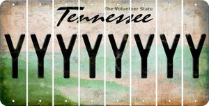 Tennessee Y Cut License Plate Strips (Set of 8) LPS-TN1-025