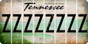 Tennessee Z Cut License Plate Strips (Set of 8) LPS-TN1-026