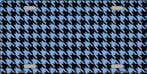 Light Blue Black Houndstooth Wholesale Metal Novelty License Plate LP-4569