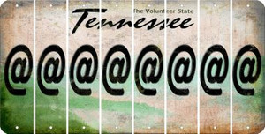 Tennessee ASPERAND Cut License Plate Strips (Set of 8) LPS-TN1-039