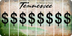 Tennessee DOLLAR SIGN Cut License Plate Strips (Set of 8) LPS-TN1-040