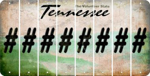 Tennessee HASHTAG Cut License Plate Strips (Set of 8) LPS-TN1-043