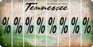 Tennessee PERCENT SIGN Cut License Plate Strips (Set of 8) LPS-TN1-046