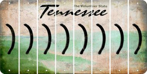Tennessee RIGHT PARENTHESIS Cut License Plate Strips (Set of 8) LPS-TN1-048