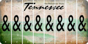 Tennessee AMPERSAND Cut License Plate Strips (Set of 8) LPS-TN1-049