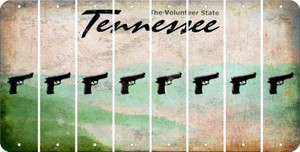 Tennessee HANDGUN Cut License Plate Strips (Set of 8) LPS-TN1-051