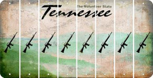 Tennessee M16 RIFLE Cut License Plate Strips (Set of 8) LPS-TN1-052