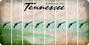 Tennessee PISTOL Cut License Plate Strips (Set of 8) LPS-TN1-053