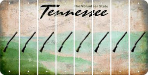 Tennessee SHOTGUN Cut License Plate Strips (Set of 8) LPS-TN1-054