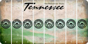 Tennessee 2ND AMENDMENT Cut License Plate Strips (Set of 8) LPS-TN1-056