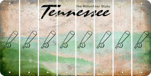 Tennessee BASEBALL WITH BAT Cut License Plate Strips (Set of 8) LPS-TN1-057