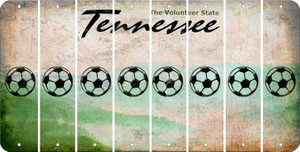 Tennessee SOCCERBALL Cut License Plate Strips (Set of 8) LPS-TN1-061