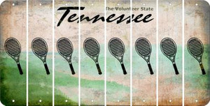 Tennessee TENNIS Cut License Plate Strips (Set of 8) LPS-TN1-064