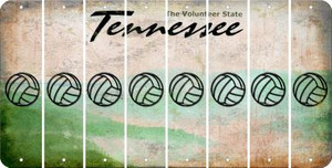 Tennessee VOLLEYBALL Cut License Plate Strips (Set of 8) LPS-TN1-065