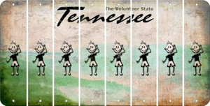 Tennessee TEEN BOY Cut License Plate Strips (Set of 8) LPS-TN1-068