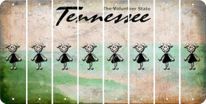 Tennessee TEEN GIRL Cut License Plate Strips (Set of 8) LPS-TN1-069