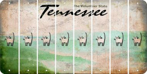 Tennessee CAT Cut License Plate Strips (Set of 8) LPS-TN1-072