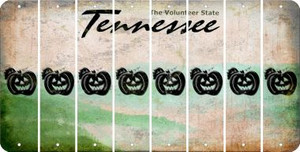 Tennessee PUMPKIN Cut License Plate Strips (Set of 8) LPS-TN1-075