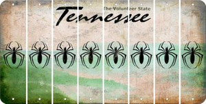 Tennessee SPIDER Cut License Plate Strips (Set of 8) LPS-TN1-076
