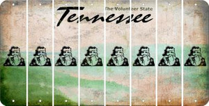 Tennessee SANTA Cut License Plate Strips (Set of 8) LPS-TN1-078