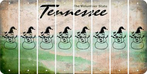 Tennessee SNOWMAN Cut License Plate Strips (Set of 8) LPS-TN1-079
