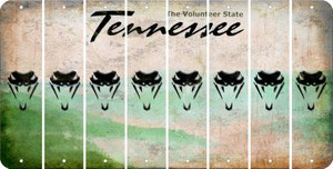 Tennessee SNAKE Cut License Plate Strips (Set of 8) LPS-TN1-088