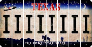 Texas I Cut License Plate Strips (Set of 8) LPS-TX1-009
