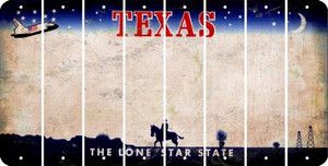 Texas BLANK Cut License Plate Strips (Set of 8) LPS-TX1-037