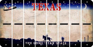 Texas HYPHEN Cut License Plate Strips (Set of 8) LPS-TX1-044