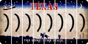 Texas RIGHT PARENTHESIS Cut License Plate Strips (Set of 8) LPS-TX1-048