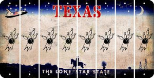 Texas BOWLING Cut License Plate Strips (Set of 8) LPS-TX1-059