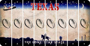 Texas FOOTBALL Cut License Plate Strips (Set of 8) LPS-TX1-060