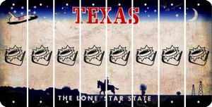 Texas HOCKEY Cut License Plate Strips (Set of 8) LPS-TX1-062