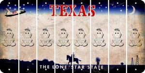 Texas BABY GIRL Cut License Plate Strips (Set of 8) LPS-TX1-067