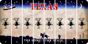 Texas TEEN GIRL Cut License Plate Strips (Set of 8) LPS-TX1-069
