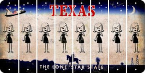 Texas MOM Cut License Plate Strips (Set of 8) LPS-TX1-070