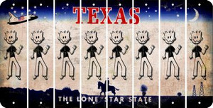 Texas DAD Cut License Plate Strips (Set of 8) LPS-TX1-071