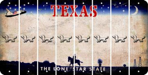Texas DOG Cut License Plate Strips (Set of 8) LPS-TX1-073