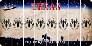 Texas SPIDER Cut License Plate Strips (Set of 8) LPS-TX1-076