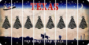Texas CHRISTMAS TREE Cut License Plate Strips (Set of 8) LPS-TX1-077
