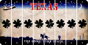Texas SHAMROCK Cut License Plate Strips (Set of 8) LPS-TX1-082