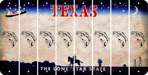 Texas FISH Cut License Plate Strips (Set of 8) LPS-TX1-086
