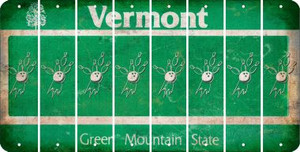 Vermont BOWLING Cut License Plate Strips (Set of 8) LPS-VT1-059