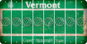 Vermont VOLLEYBALL Cut License Plate Strips (Set of 8) LPS-VT1-065