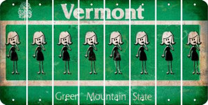 Vermont MOM Cut License Plate Strips (Set of 8) LPS-VT1-070